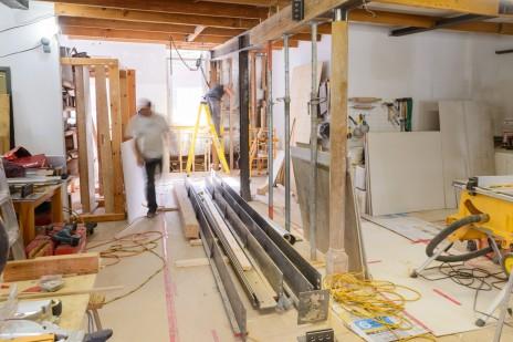 444SG en chantier - poutres livrées