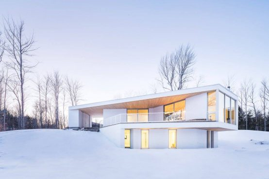 Résidence unifamiliale Le Nook, Mu Architecture. Single-family home in wood and steel.