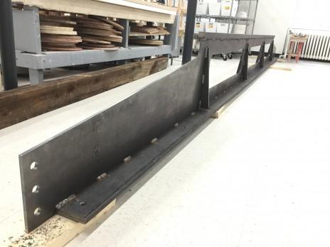 Renforcement en acier des poutres de bois au Centre de Céramique Bonsecours