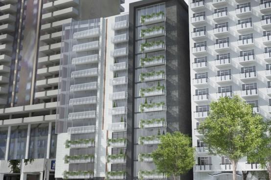 Projet de condos en béton à Montréal. Concrete structure condos in Montreal.