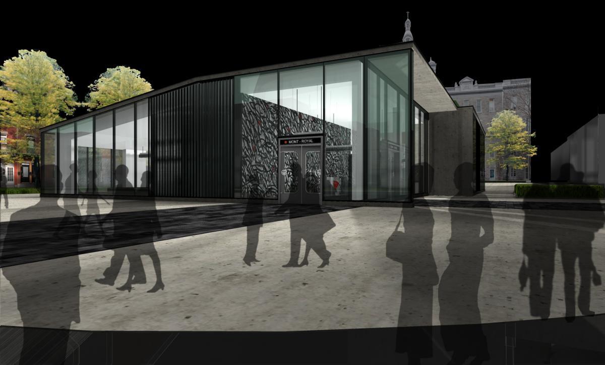 station mont royal enveloppe et verre structurel lat ral. Black Bedroom Furniture Sets. Home Design Ideas